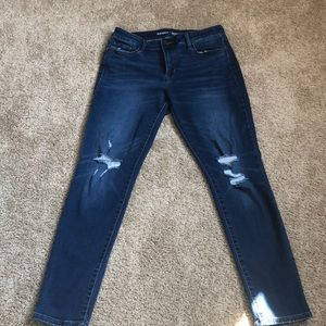 Old navy mid-rise rockstar jeans distressed size 8
